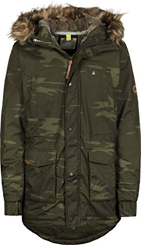 alife and Kickin Ron Parka L, camo Camo Parka
