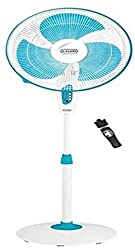 V-guard Finesta Remote 400mm Pedestal Fan (Blue & White) (white)