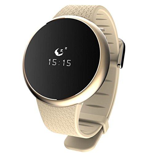 Hunpta Smart Gesundheit Armband Sport Fitness Tracker Schlaf Monitor Band Uhr (Gold) (Uhr Gesundheit-band)