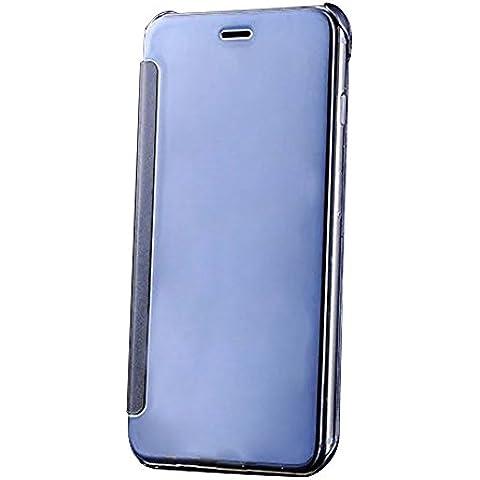 Cuitan Lujo Enchapado Espejo PC Flip Funda (PU Cuero Conectar) para Apple iPhone 6 / 6S 4.7 pulgadas, Moda Creativa Diseño PC Duro Caso Plating Mirror Protectora Cubierta Case Cover Protección Carcasa - Púrpura
