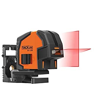Laser Level, Tacklife SC-L02 Classic Cross Line Laser 20M Self-Leveling Line with Brighter 130° Line Laser, Out-of-Level Indication and 360° Swivel Magnetic Mount