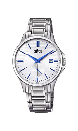 Lotus Watches Mens Analogue Classic Quartz Watch with Stainless Steel Strap 18423/1