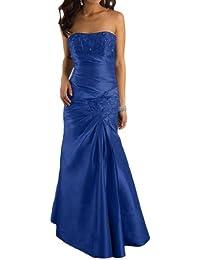 Gorgeous Novia appliques sin tirantes Evening vestidos de tafetán Largo Elegante
