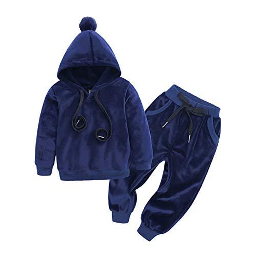QinMMROPA Conjunto de Ropa para ni/ños Bebes Sudadera con Capucha de Calavera Pantalones Beb/é reci/én Nacido Ropa de Invierno casmieta Tops Abrigo Deporte