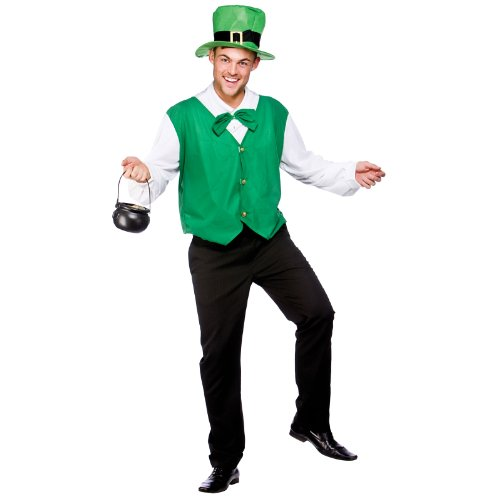 Lucky Leprechaun (Plus Size) Fancy Dress Stag (Leprechaun Kostüm Lucky)