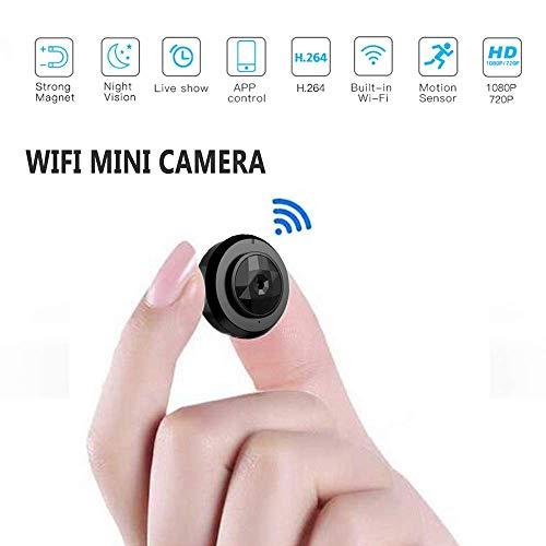 WANGGANG Micro WiFi Mini Camera C6, HD 720P mit Smartphone-APP und Night Vision IP-Home-Security-Video-Cam-Camcorder, Mini-Kamera Wireless DV DVR Kamera Video-SprachRekorder (C6-cam)