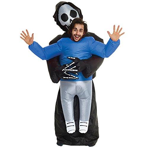 n hol mich ab aufblasbare Kostüm - eine Größe passt am meisten (Armee Morphsuit)