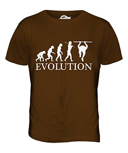 CandyMix Calisthenics Evolution Des Menschen Herren T Shirt Braun