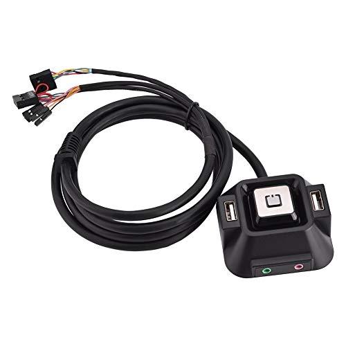 Wingeri Notebook-Verlängerungskabel 1,2 Meter Desktop-PC-Gehäuse Schalter/Zwei USB 2.0-Schnittstellen/Power-Reset-Taste/Audio-Schnittstelle/Mikrofon-Schnittstelle Übernehmen