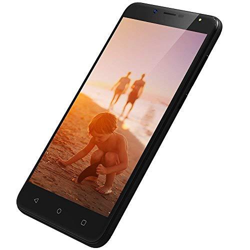 3G Dual SIM Smartphone Ohne Vertrag Günstig 5,5 Zoll, 1GB+8GB, Billiges Smartphone Android 7.0, 8MP+5MP Kamera, HD 1280 * 720, 2970mAh Dual SIM Handy Günstig Wieppo S6 Lite Schwarz