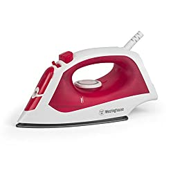 Westinghouse Steam Iron with 5-Ounce Water Tank, 1200 watts ,Bright Red Finish