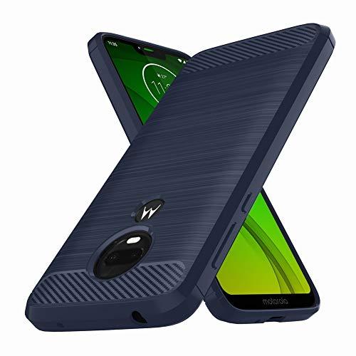 Moto G7 Power Hülle, E-Outfit Slim Soft TPU Schutzhülle Gummi Bumper Case Cover für Motorola Moto G7 Power Phone, blau (Mobile Blau Boost Telefone)