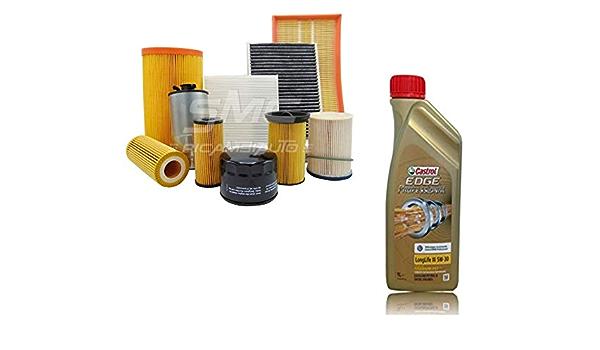 Inspektionskit Mit 5lt Öl Castrol Edge 5w30 Ll03 4 Filter Verschiedene Marken Ölfilter Luftfilter Kraftstofffilter Und Innenraumfilter Auto