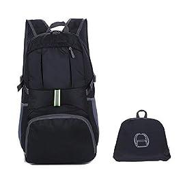 Enkrio Ultralight pieghevole zaino da viaggio impermeabile ripiegabile zaini escursionismo zaino borsa a tracolla Handy campeggio esterno di scuola zaino 25L