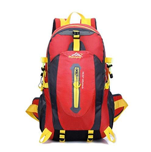 Wmshpeds Grande capacità 40L outdoor coppia pacchetto impermeabile zaino borsa di arrampicata borsa da viaggio B