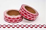 wolga-kreativ Washi Tape Her Liebe Valentinstag rote Herzen Hochzeit Masking Tape Dekoband Klebeband
