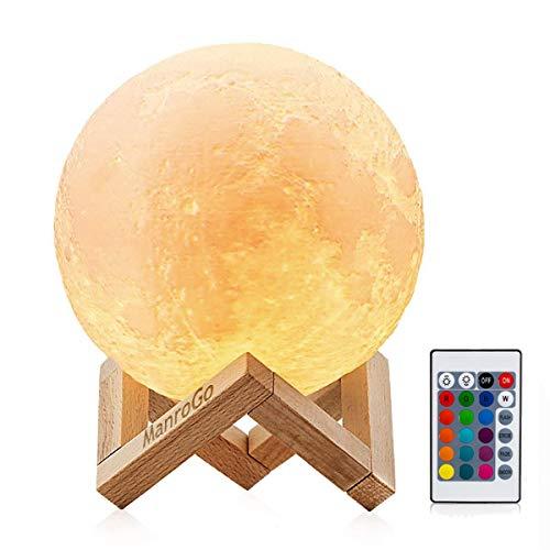 Lámpara Luna 3D, ManroGo Luz Nocturna Luna LED 15CM