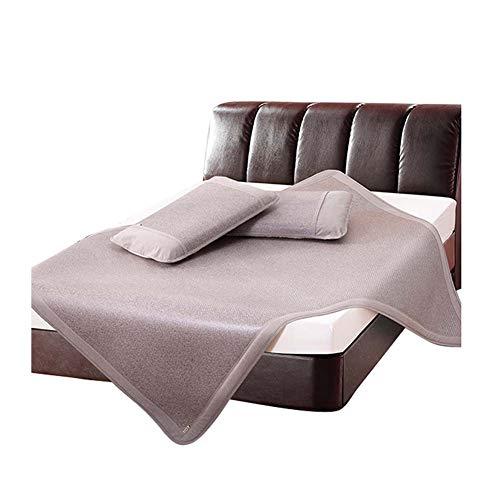 matten Klimaanlage Matte Sommerschlafmatte Faltbare Coole Atmungsaktiv Doppelbett Schlafzimmer Mit Kissenbezug,dreiteiliger Anzug,Blau, Rosa, Silber,2 Größen ()