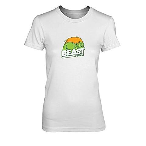 Beast Power - Damen T-Shirt, Größe: L, Farbe: weiß