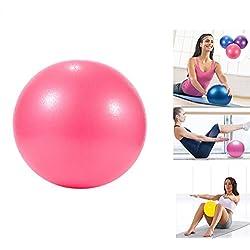 Pelota de yoga Pilates PVC a prueba de explosiones, resistencia, estabilidad, equilibrio de fitness, para niños embarazadas y mujeres, 25 cm, rojo