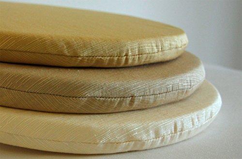Cuscini Per Sedie Cucina Rotondi.Arketicom Pacco Da 4 Cuscini Artigianali Per Sedie Rotondi Con Lacci