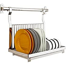 Dish drainer rack Plato escurreplatos Cocina de Pared montado en Acero  Inoxidable Plegable cubertería Secadora 49a2c1bf1c99