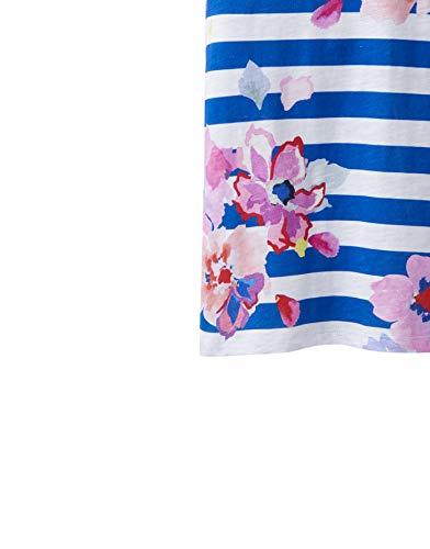 joules Nessa Print Lightweight Jersey T-Shirt - SS19 Blue Stripe Floral 10 -