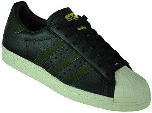 adidas Herren Superstar 80s Sneaker - Mehrfarbig (Core Schwarz / Nacht Cargo / Core Schwarz) , 41 1/3 EU