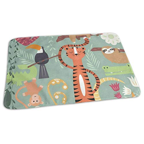 Voxpkrs Changing Pad Animal in Forest Baby Diaper Urine Pad Mat Trendy Boys Urinal Mats Sheet for Any Places for Home Travel Bed Play Stroller Crib Car