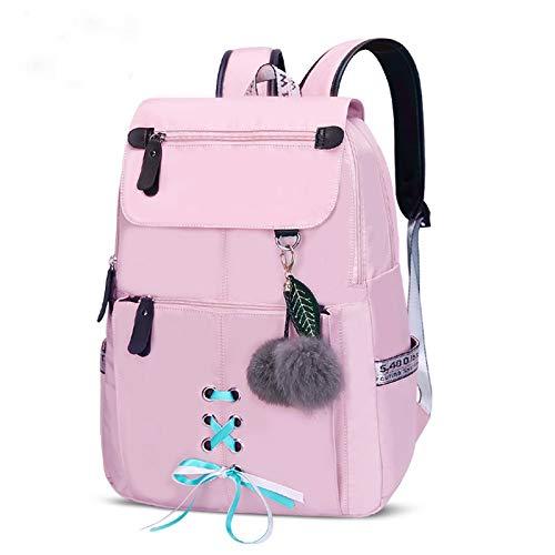 ZFLL Schultaschen Schulrucksack für Mädchen Schultaschen Damen UmhängetascheFellknäuelBowknot Rucksäcke für Mädchen Schultaschen von Luggage & Bags (Lila Rucksack Von Under Armour)
