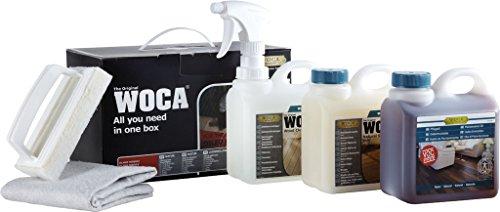 Woca - Lote de aceites y productos para el mantenimiento de suelos laminados