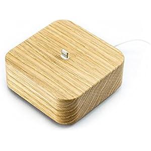 iPhone Dockingstation Holz für iPhone 7, 7 Plus, 6, 6 Plus, 5, 5s, 5c, SE, Apple Tv Dock, Handy Ladestation, Docking Station // Handmade in Germany von FORMGUT® // Eiche Massiv