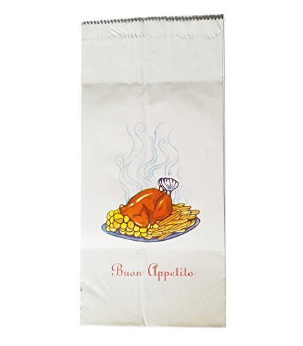 50Taschen Huhn am Spieß–Format cm. 17x 38–Briefumschläge von Papier Lärche Fettfilter für Huhn Braten mit Druck Generica A Farben (Tasche Spy)