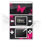 Nintendo ds Case Skin Stickers en vinyle de film autocollant papillon rose