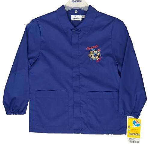 Siggi grembiule scuola elementare bambino 33cs1519 cerniera blu 7-8-9-10-11-12-13-14-15 a (80 9 anni)