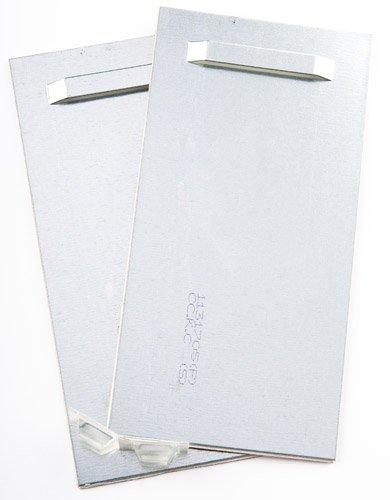 Adhesiva gruesa, espejo para colgar hasta 24 kg 10 x 20 cm, colgador para espejo, Alu-diseño, placas...