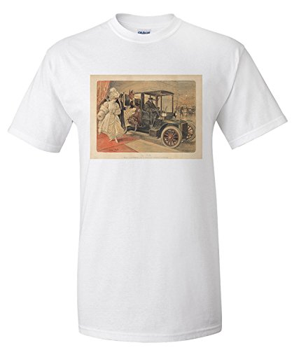 La Ville Vintage Poster (artist: Redon) France c. 1905 (Premium T-Shirt) (1905 Poster)