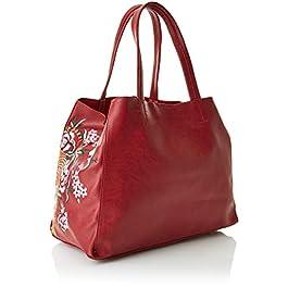 Desigual Bols_rosso Cuenca – Borse a spalla Donna, Rosso (Carmin), 16.5x30x37.5 cm (B x H T)