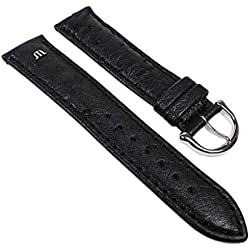 Maurice Lacroix Replacement Band Watch Band Ostrich Leather Strap black leather 22623S, width:14mm