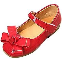 Qitun Scarpe per Bambine e Ragazze Mary Jane Basse Bowknot Mocassini EstateFondo Morbido Ballerina Shoes