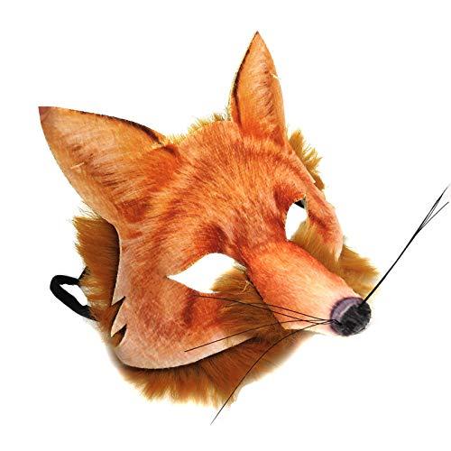 Realistisch Gesicht-maske Buchwoche Tier Zoo Dschungel Wald Creature Karneval Gesichtsmaske für Erwachsene und Kinder - - Fox Kostüm Für Erwachsene