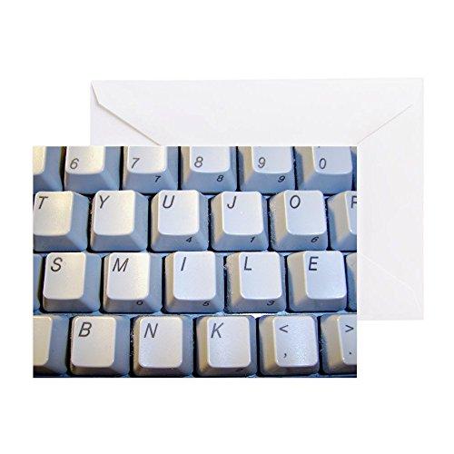 CafePress Grußkarte mit Smile-Tastatur Note Card merhfarbig