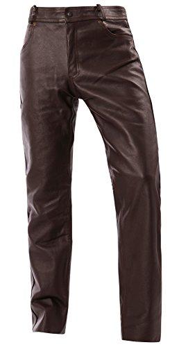 Bangla Lederhose Jeans Leder Motorrad 5-Pocket Style 1507 Braun inch 34 - 5-pocket-leder-jeans
