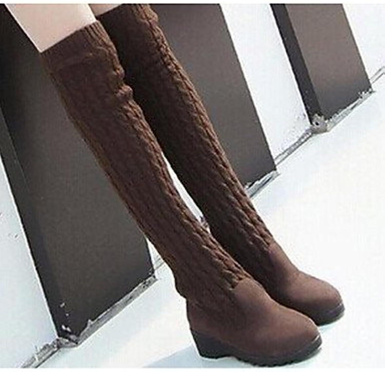 RTRY Zapatos De Mujer De Lana De Moda Otoño Invierno Botas Botas Chunky Talón/Botines Botas De Tobillo Sobre La...