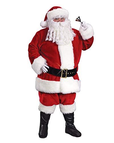 Claus Deluxe Kostüm Santa - Horror-Shop Weihnachtsmann Deluxe Kostüm- Nikolaus Kostüm- Santa Claus Kostüm