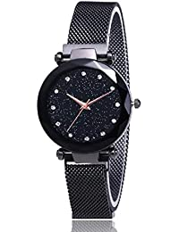 Just like MAG-2 Luxury Mesh Magnet Buckle Starry Sky Quartz Watches for Girls Fashion Clock Mysterious Rose Gold Lady Analog Watch - for Girls