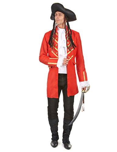 Costume pirata rosso da uomo Taille L