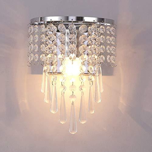 Wandleuchten Wohnzimmer LED Wandleuchte Outdoor moderne Kristallwandleuchte Chrom Abstellgleis Nachttischlampe Wohnzimmerwandleuchte Heimtextilien D -