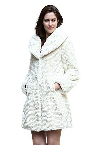 Adelaqueen Abrigo de Piel Sintética de Cordero Persa con Solapa Ancha  Chaqueta Invernal con Estilo de Moda Para Mujer d15325915414