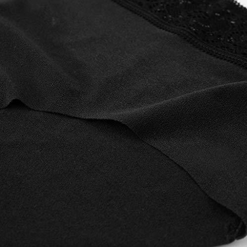 URSING Unterhosen Damen String Sexy Tanga Unterwäsche Atmungsaktive Unterhosen Panties Hipster Lace Patchwork Stringtanga Bikini Lingerie Bikinislip - 3